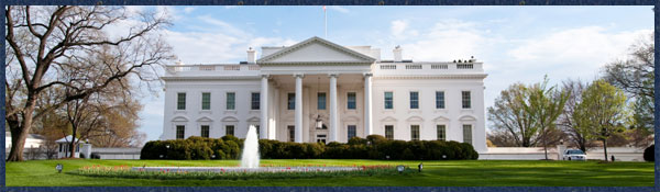 A picture of the White House on a sunny day in Washington, D.C.