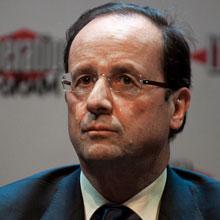 Francois Hollande和法国首都的飞行