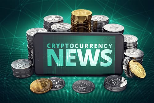 Bitcoin News Coins and Smartphone