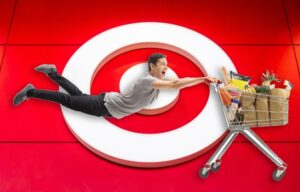 Shoppers like the one pictured here cannot resist the Target Effect