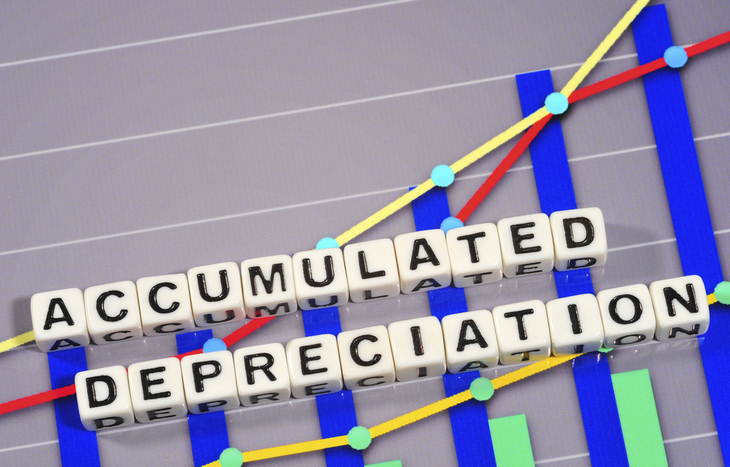 Accumulated depreciation is the sum of an asset's depreciation expense.