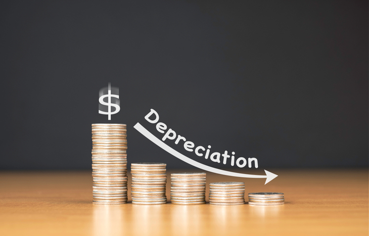 Depreciation expense is the decrease in an asset's value.