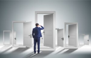 Each open door represents an opportunity being seen - what are the best stocks to buy when the stock market crashes?