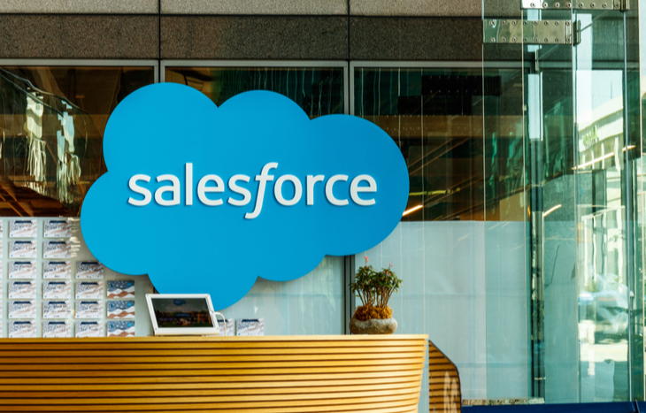 Salesforce stock is on the rise