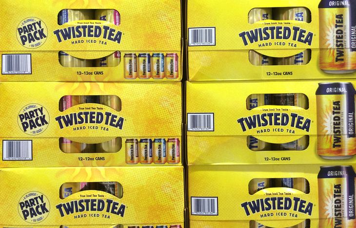 Twisted tea stock had a huge year