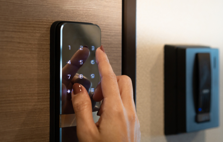 A Latch IPO brings the opportunity for investors to invest is smart home technology, like the lock pictured.