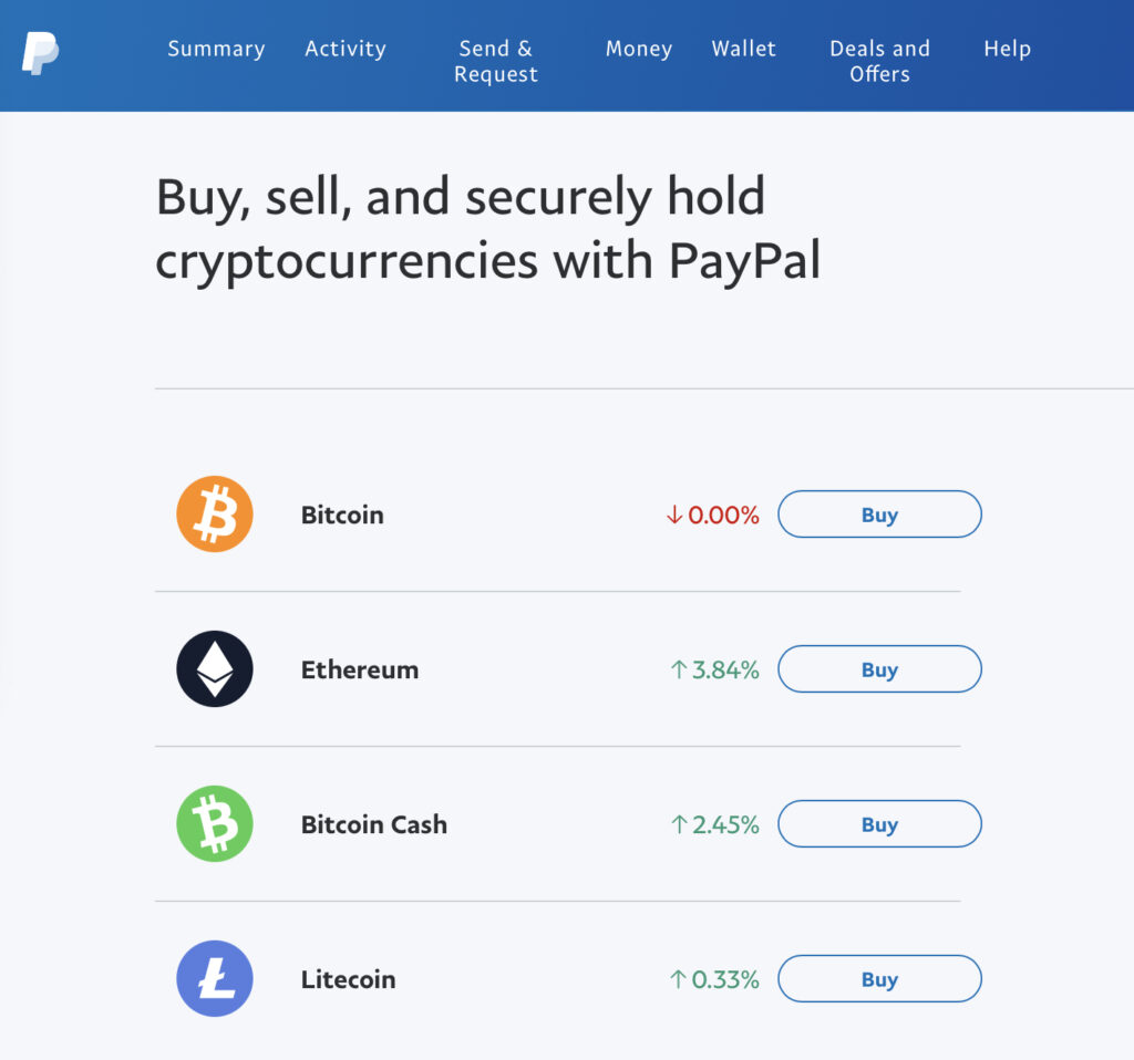 A look at the PayPal Crypto Wallet