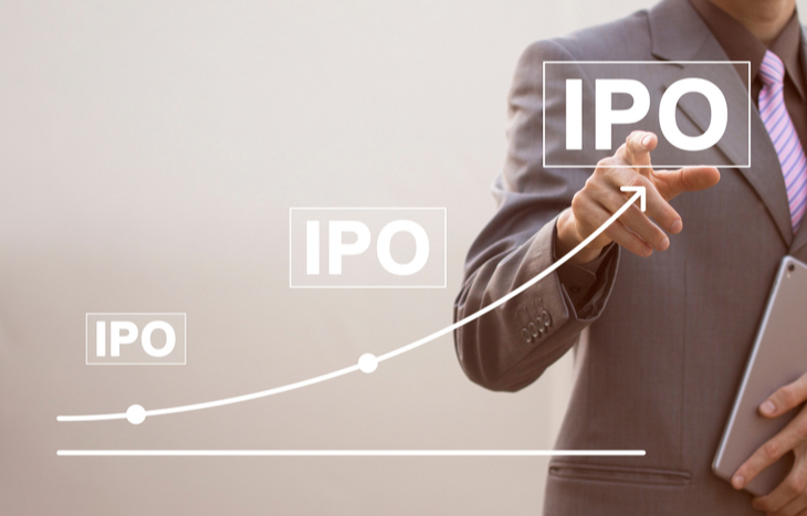 A chart of tech IPOs climbing higher