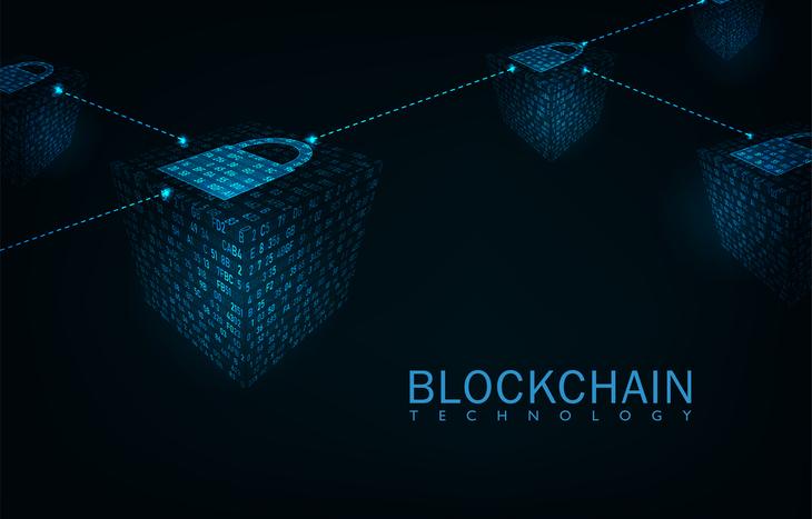 Digital illustration of what blockchain technology looks like