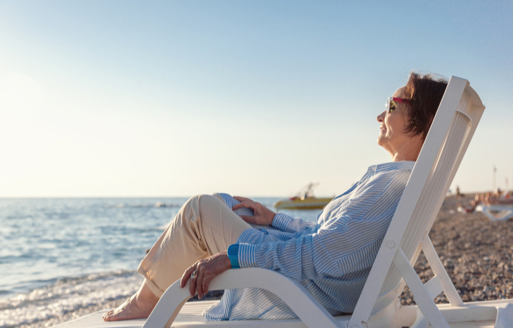 A woman who learned how to retire comfortably