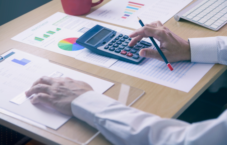 An employee goes over the accounting period