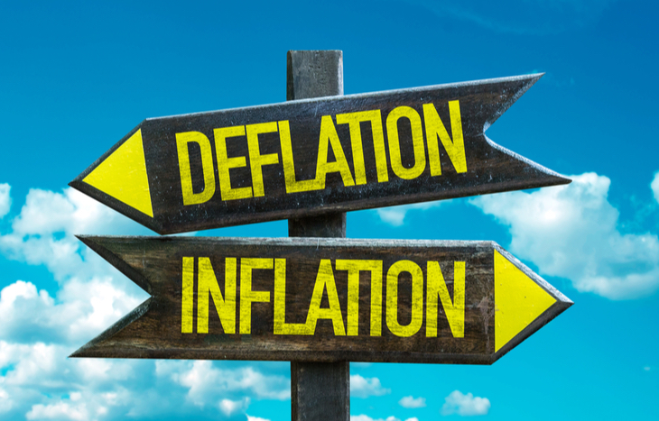 Understand the differenc betwen deflation and inflation
