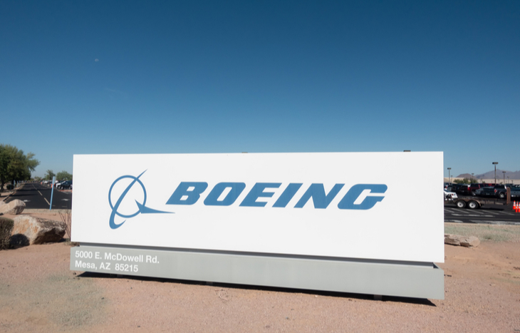 Boeing stock and logo