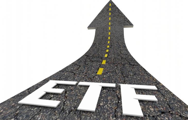 Illustration of a road for EV ETFs to travel on.