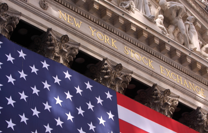 The entrance to the New York Stock Exchange