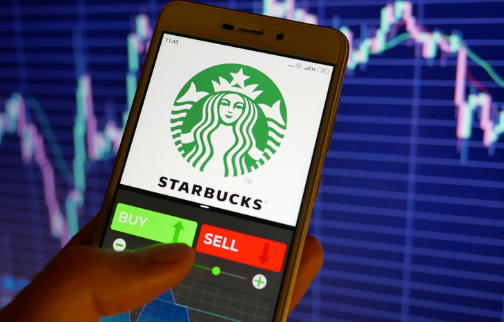 looking at a Starbucks stock forecast chart to buy or sell SBUX